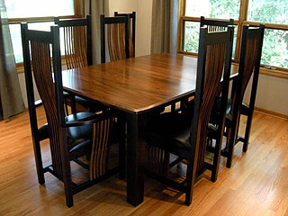 Dining room table and chairs set – Amish Custom Furniture