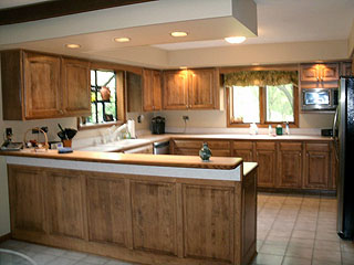 Kitchen remodeled by professional Amish artisans.