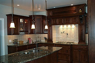 High End Kitchen Remodel Amish Custom Furniture - Kitchen cabinets high end