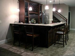 high end kitchen bar remodel