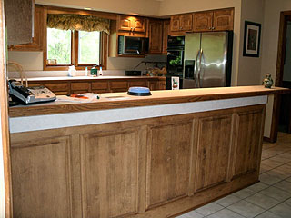 kitchen cabinet refacing and remodel project