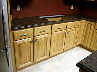 office kitchen cabinets and counter top