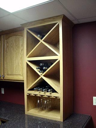 kitchen wine bottle storage shelves