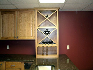 wine rack and counter top