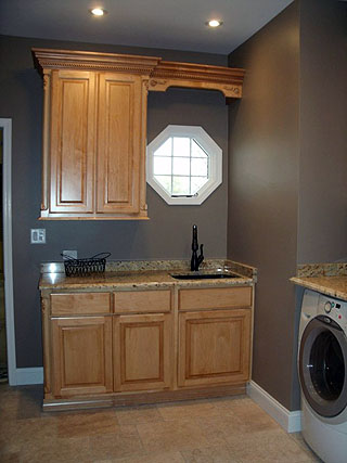 laundry room cabinets remodel