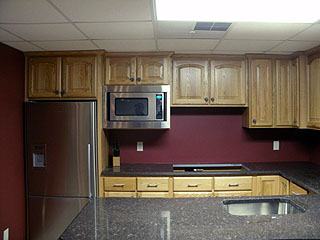 custom built to fit design of office kitchen area