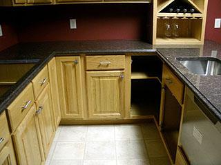 office kitchen prep area