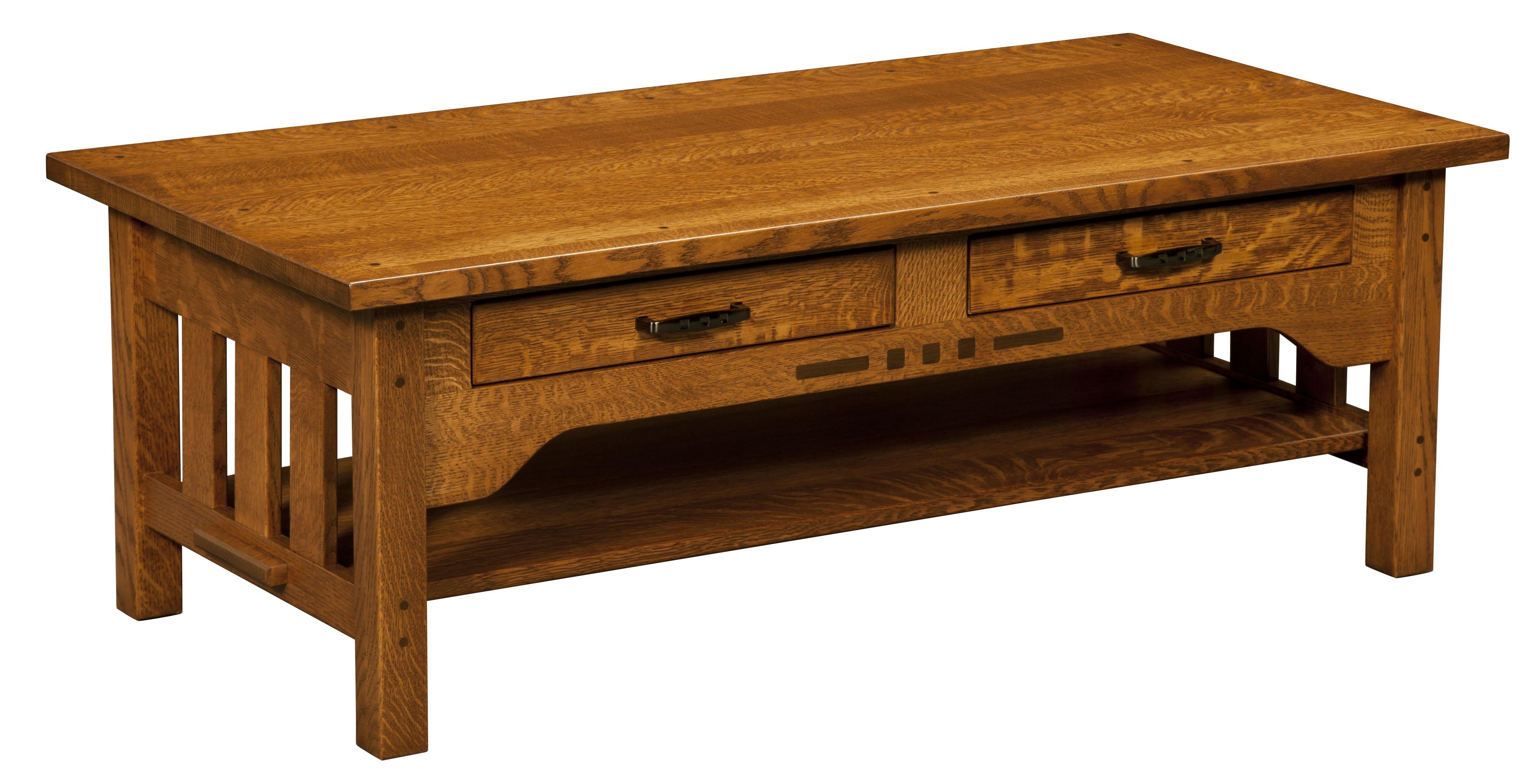 Boulder Creek Coffee Table Amish Custom Furniture