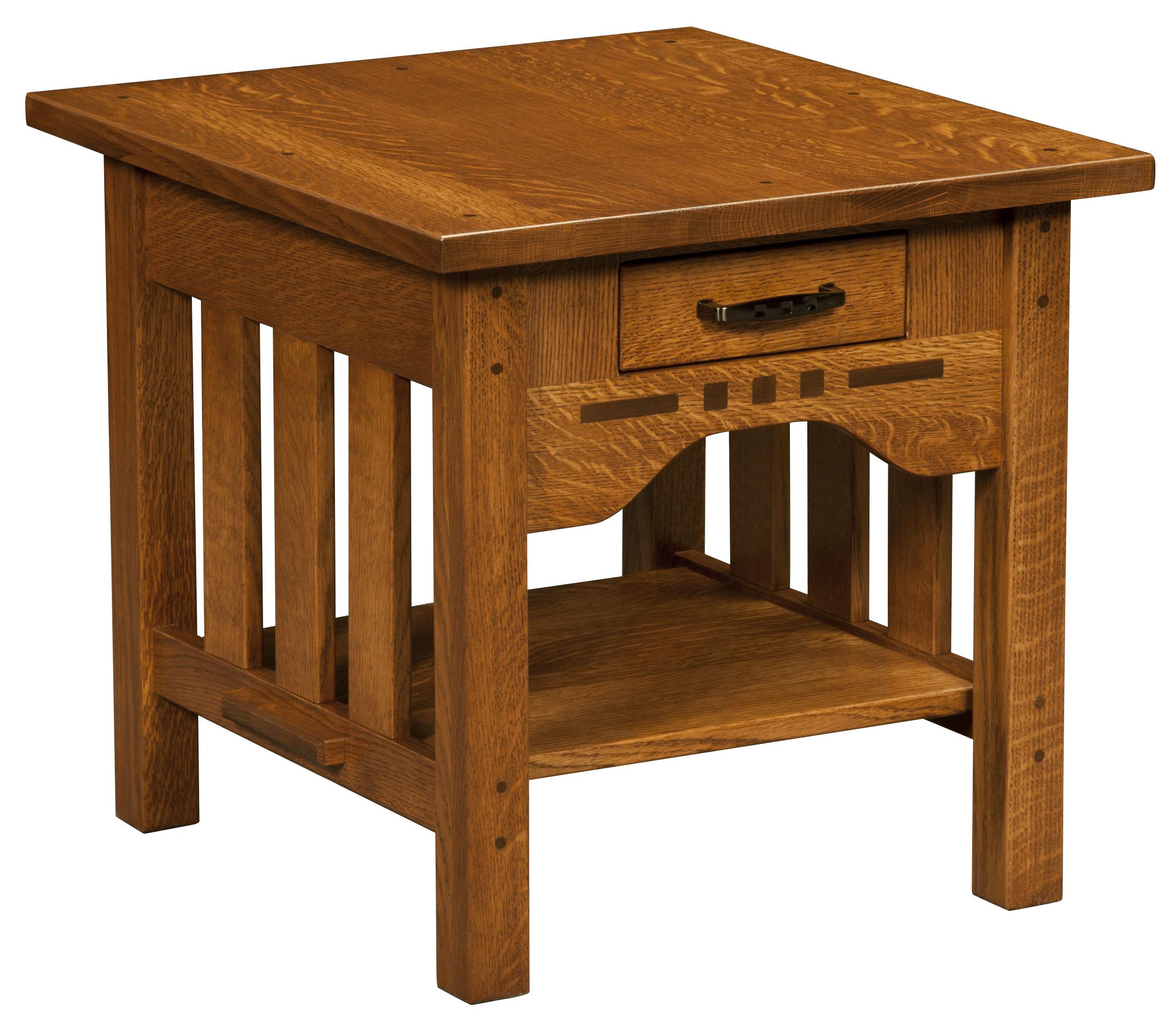 Boulder Creek End Table Amish Custom Furniture