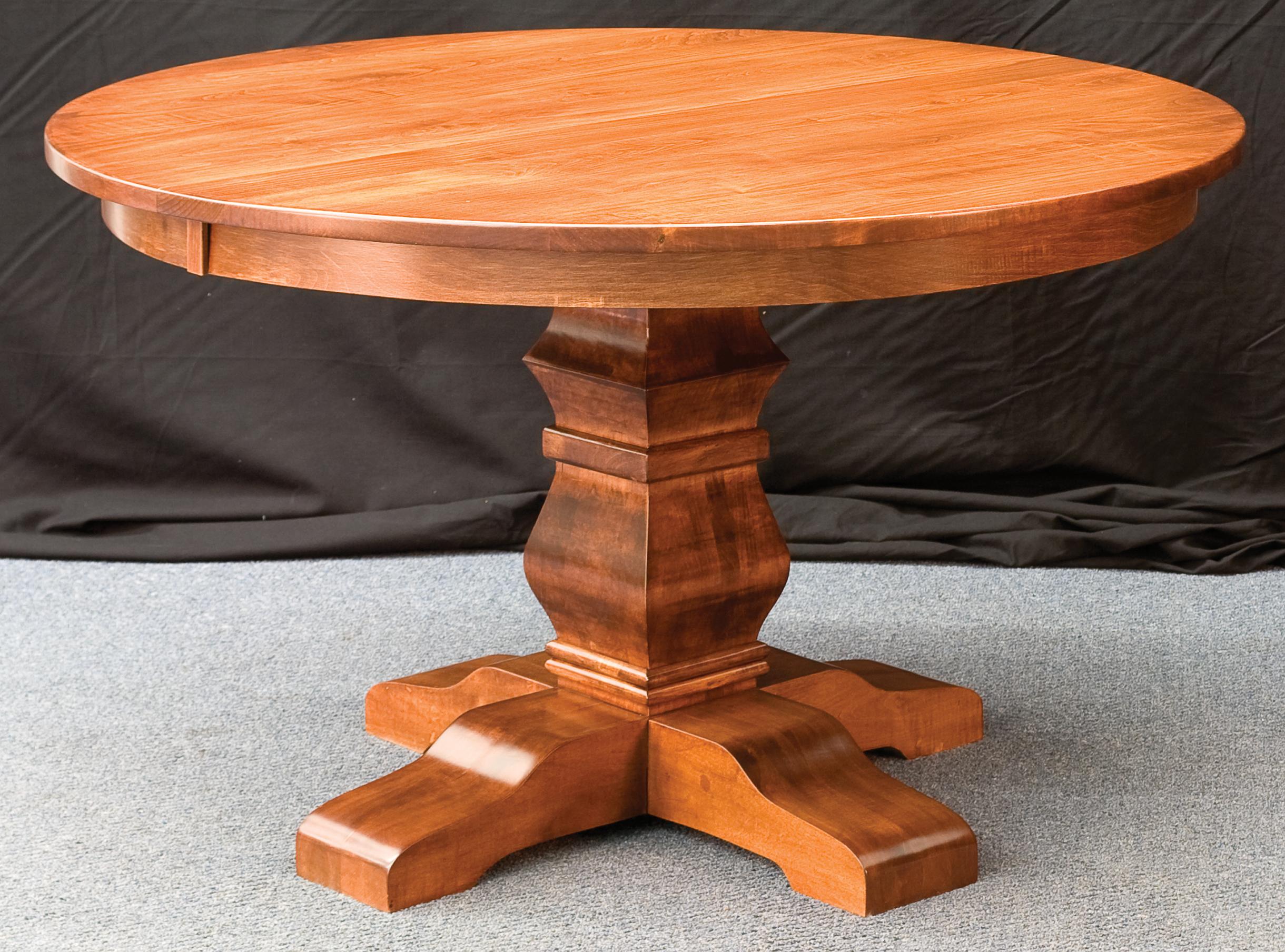 Bradbury Single Pedestal Amish Custom Furniture