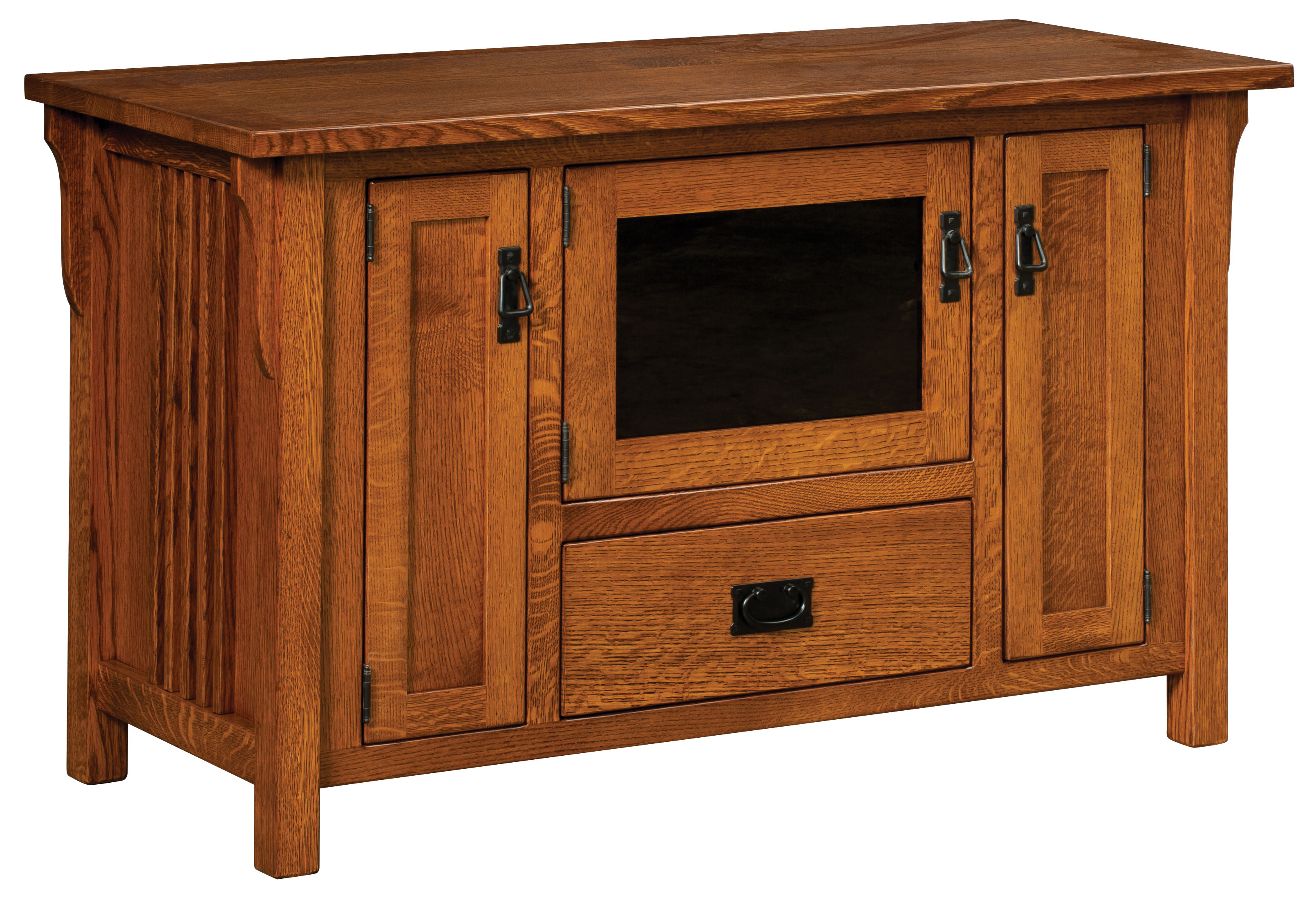 Camden Mission Television Stand Amish Custom Furniture