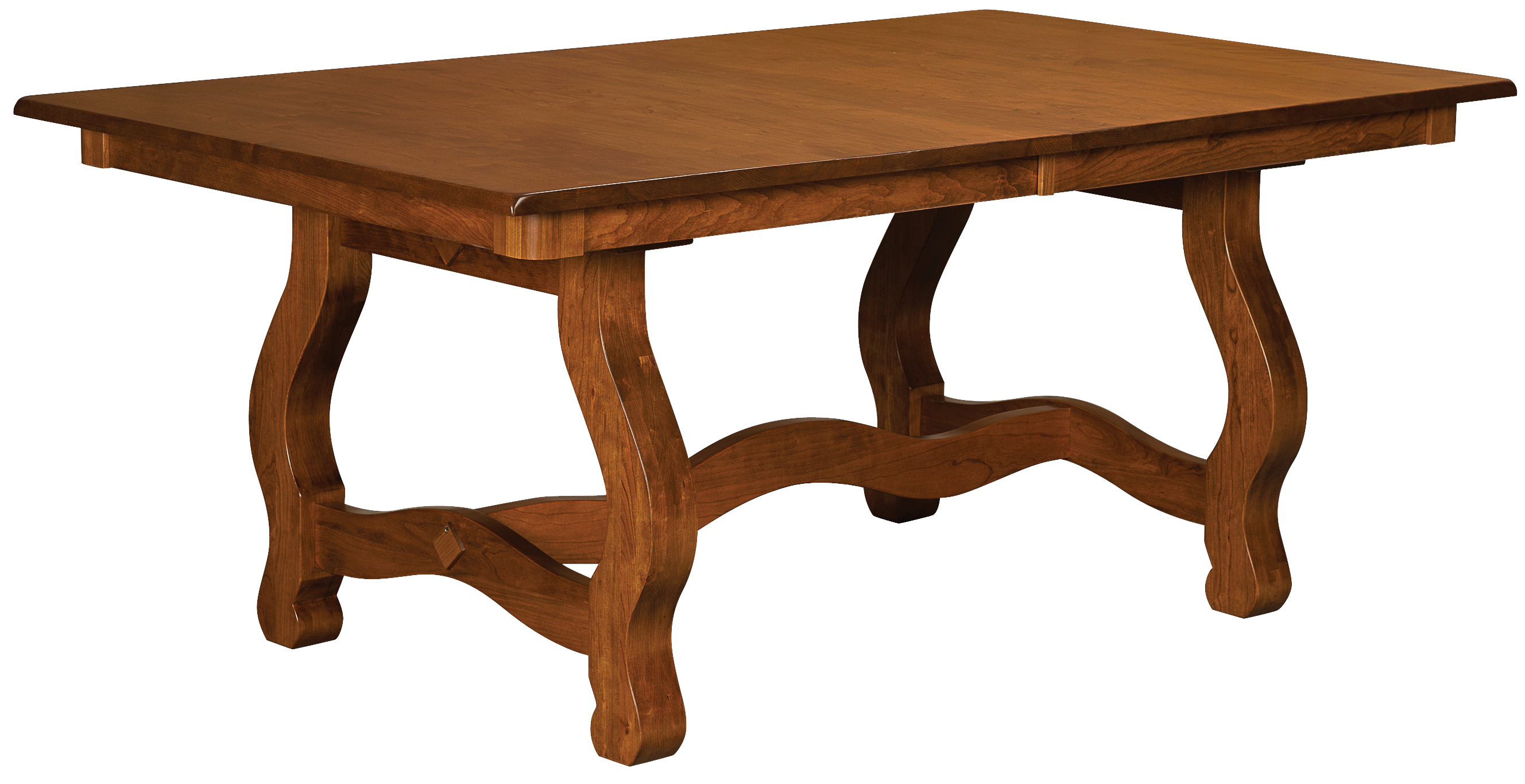 carolina trestle dining room table amish custom furniture