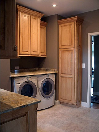 laundry room cabinets – amish custom furniture