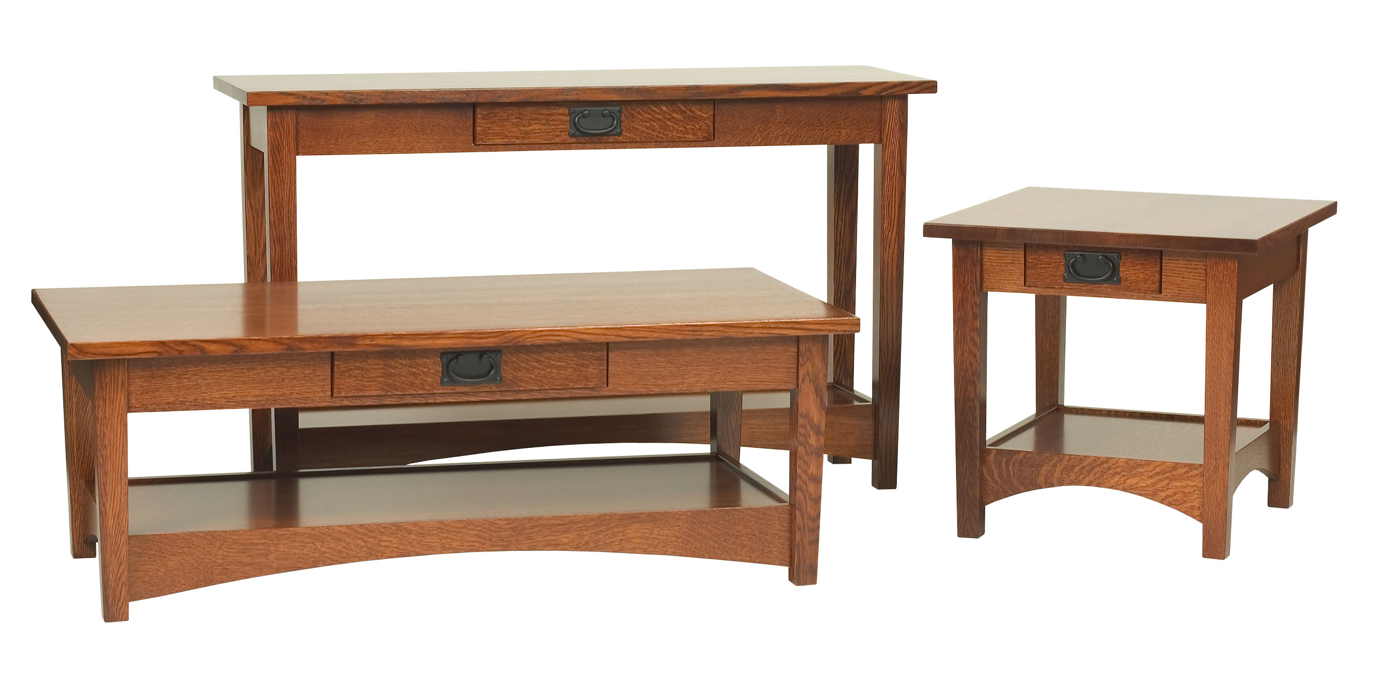 Arts Crafts Sofa Table Open